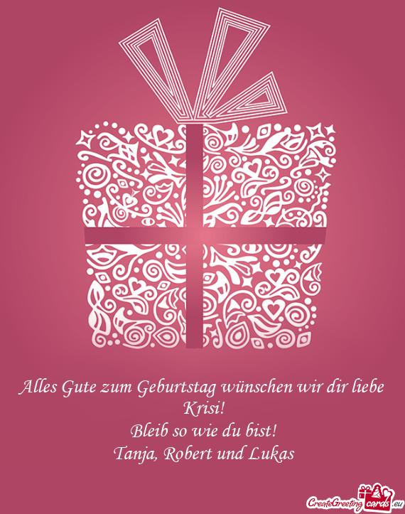 Alles Gute Zum Geburtstag Wünschen Wir Dir Liebe Krisi Kostenlose