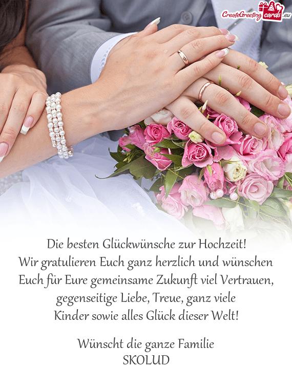 Hochzeit gratulieren zur Hochzeitswünsche auf