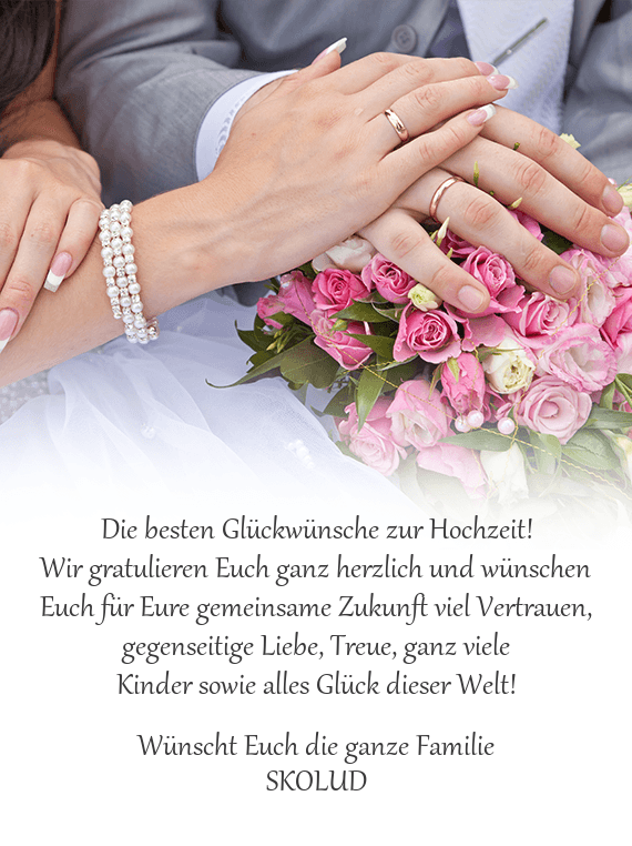 Für hochzeitskarten kostenlos glückwünsche Hochzeitsglückwünsche für