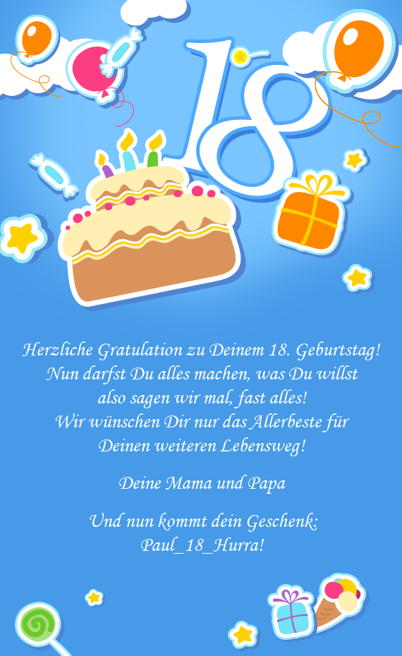 Geburtstag Gratulation