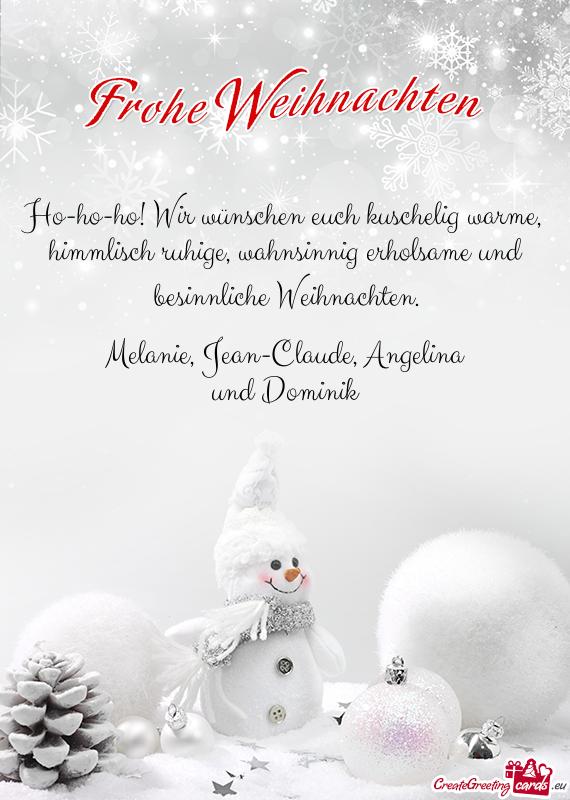 Wünsche Euch Besinnliche Weihnachten.Ho Ho Ho Wir Wünschen Euch Kuschelig Warme Kostenlose Karten